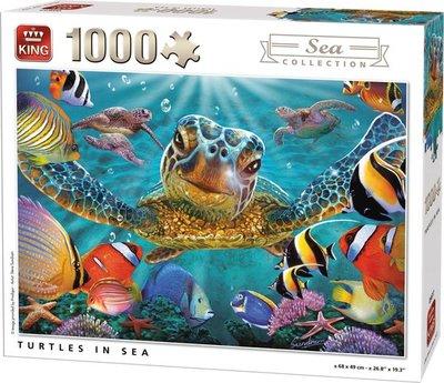 05617 King Puzzel Schildpadden 1000 Stukjes