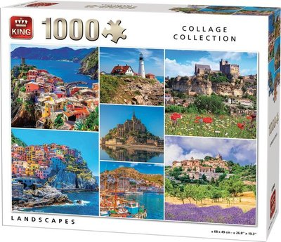 55880 King Puzzel Landschappen Collage 1000 Stukjes