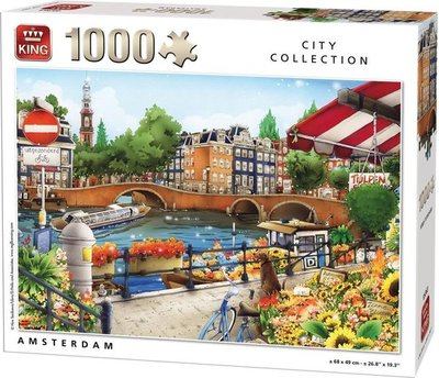 05363 King Puzzel Amsterdam 1000 Stukjes