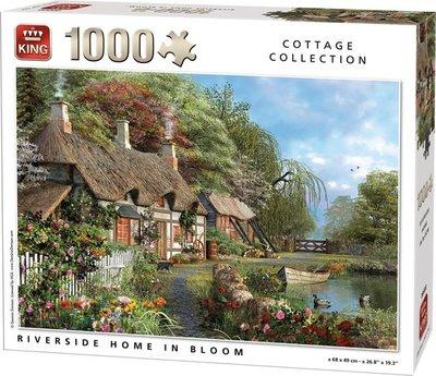 05718 King Puzzel Riverside in Bloom 1000 Stukjes
