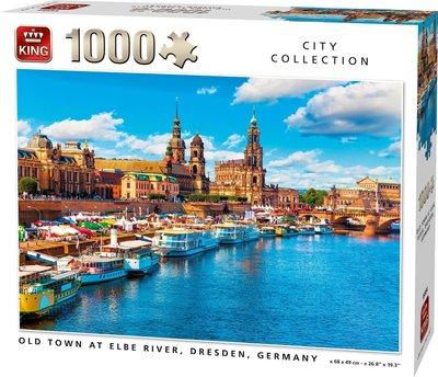 55884 King Puzzel Old Town at Elbe Dresden 1000 Stukjes