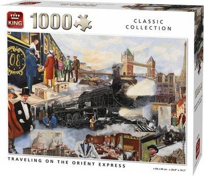 05773 King Puzzel Travelilng On The Oriënt Express 1000 Stukjes