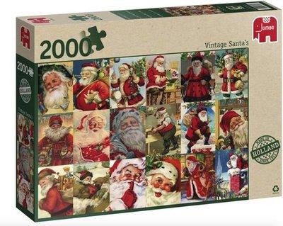 81658 Jumbo Puzzel Vintage Kerstmannen Puzzel 2000 stukjes