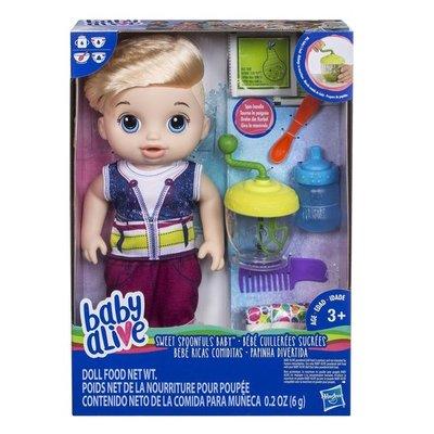 0635 Baby Alive Sweet Spoonfuls Baby Jongen Blond