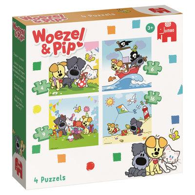 81577 Woezel & Pip 4-in-1 Puzzel