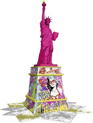 125975 Ravensburger 3D Puzzel Statue of Liberty Pop Art 108 Stukjes