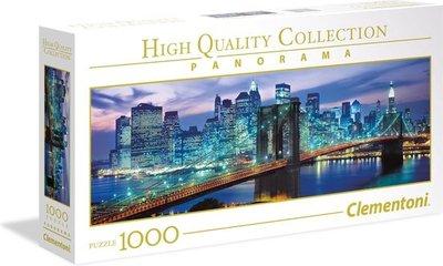 39434 Clementoni Panorama Puzzel New York Brooklyn Bridge 1000 Stukjes