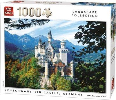 55855 KING Puzzel Neuschwanstein Castle Germany Summer 1000 Stukjes
