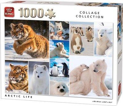55870 King Puzzel Dieren Collage 1000 Stukjes