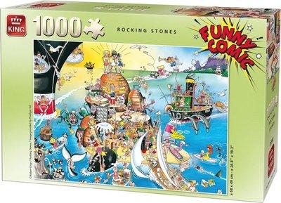 05221 King Puzzel Funny Comic Rocking Stones 1000 Stukjes