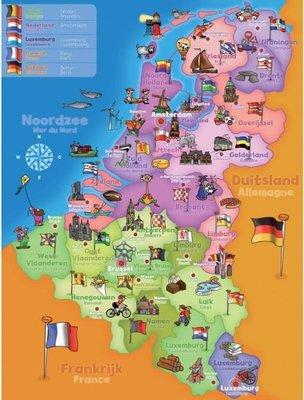 19302 Jumbo Puzzel Benelux landkaart 70 stukjes