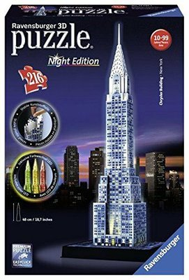 805402 Ravensburger 3D Puzzel Chrysler Building Night Edition 216 stukjes