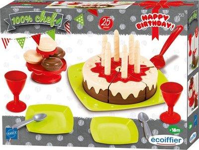 25139 Ecoiffier Eetset Verjaardagstaart
