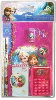 6380 Disney Frozen Schrijfset Met Rekenmachine Roze 6-delig
