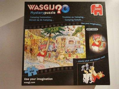 81647 Jumbo Puzzel Wasgij Mystery 6 Onrust op de Camping 950 stukjes