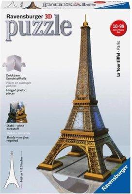 125562 Ravensburger Eiffeltoren 3D Puzzel gebouw van 216 stukjes
