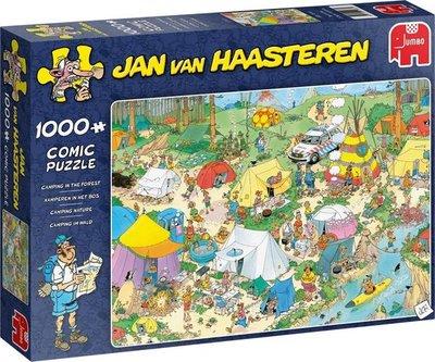 19086 Jumbo Puzzel Jan van Haasteren Kamperen in het Bos! 1000 Stukjes