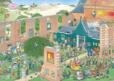 20022 Jumbo Puzzel Jan van Haasteren De Kunstmarkt 1000 Stukjes