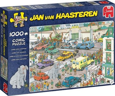 20028 Jumbo Puzzel Jan van Haasteren Jumbo gaat winkelen 1000 Stukjes