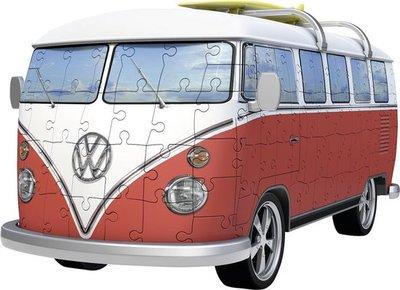 125166 Ravensburger 3D Puzzel Volkswagen bus T1 bulli 162 stukjes