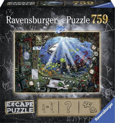 199594 Ravensburger Puzzel Escape 4 Submarine 759 stukjes
