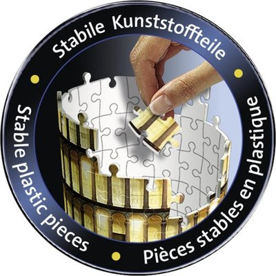 125159 Ravensburger 3D Puzzel Toren van Pisa Night Edition 216 stukjes