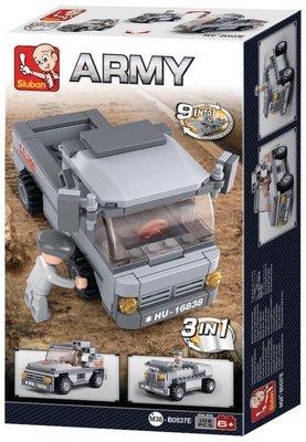 0537E Sluban Army 9 into 1 Troepentransporter 3in1