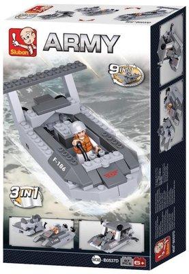 0537D Sluban Army Landingsvoertuig 3in1