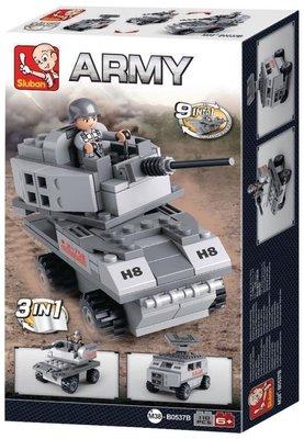 0537B Sluban Army 9 into 1 Pantservoertuig 3in1