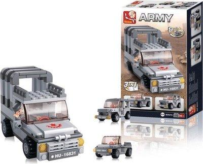 0537A Sluban Army 9 into 1 Jeep 3in1