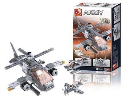0537G Sluban Army 9 into 1 Gevechtshelikopter 3in1