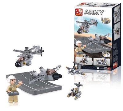 0537H Sluban Army 9 into 1 Drones 3in1