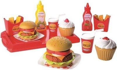 26013 Speelgoed hamburgerset Etenswaren speelset - 32 delig set