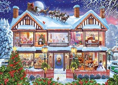 55873 King Puzzel Christmas House 1000 Stukjes