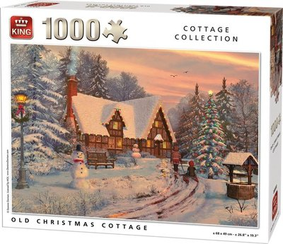 05742 King Puzzel Winter Cottage 1000 Stukjes
