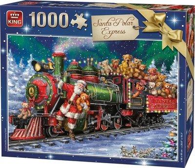 05681 King Puzzel Santa Polar Express 1000 Stukjes