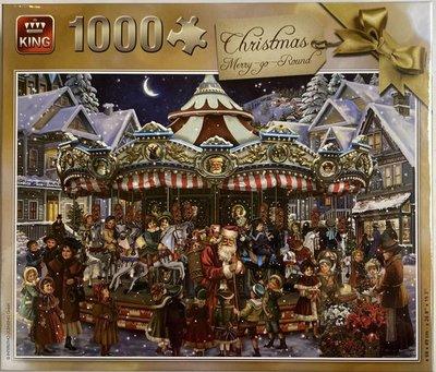 05769 King Puzzel Christmas Merry Go Round 1000 Stukjes