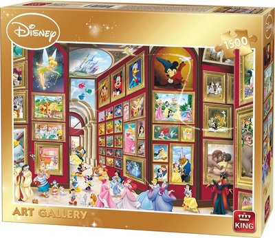 05263 King Puzzel Disney Art Gallery 1500 Stukjes