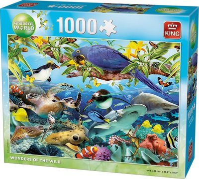 05482 King Puzzel Wonders Of The Wild 1000 Stukjes
