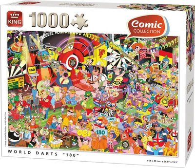 05547 King Puzzel Commic World Darts
