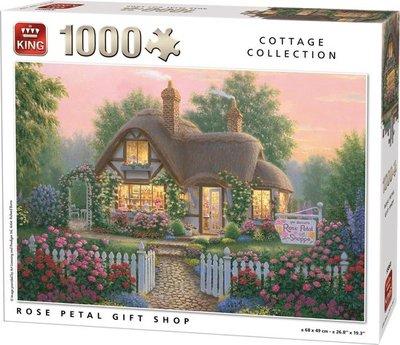 55860 King Puzzel Rose Petal Gift Shop 1000 Stukjes