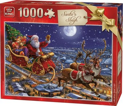 05768 King Puzzel Santa's Sleigh 1000 Stukjes