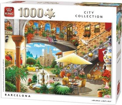 55853 King Puzzel Barcelona 1000 Stukjes