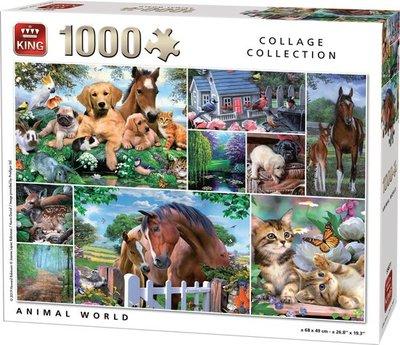 55871 King Puzzel Animal World 1000 Stukjes
