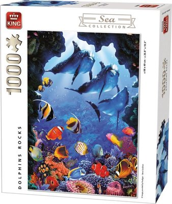 05667 King Puzzel Dolphin Rocks 1000 Stukjes