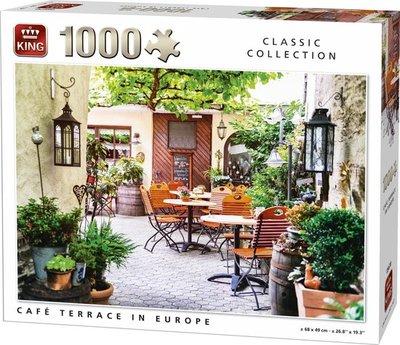 05670 King Puzzel Cafe Terrace in Europe 1000 Stukjes