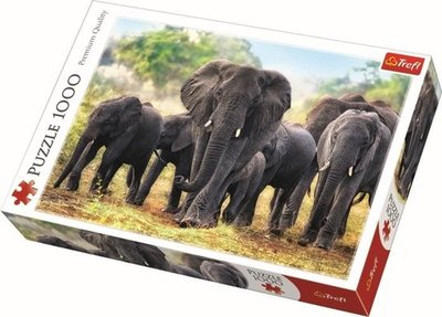 10442 TREFL Puzzel Afrikaanse Olifanten 1000 stukjes