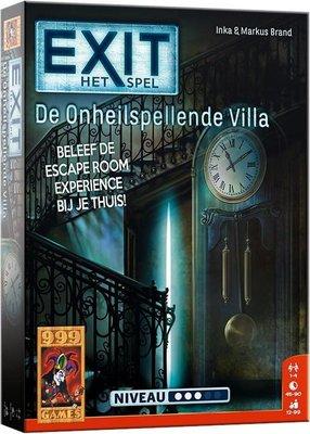 24534 999Games EXIT De Onheilspellende Villa Breinbreker - Escape Room - Bordspel