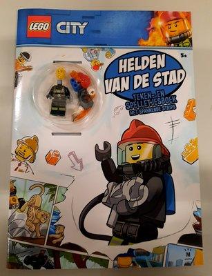 7291 LEGO City Boek Helden van de Stad + poppetje