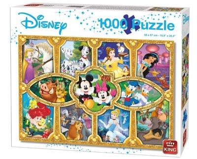 05279 King Disney Puzzel Magical Moments 1000 Stukjes